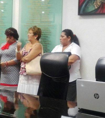 Inconformes irrumpen en comparecencia de Catalina Portillo en el Congreso