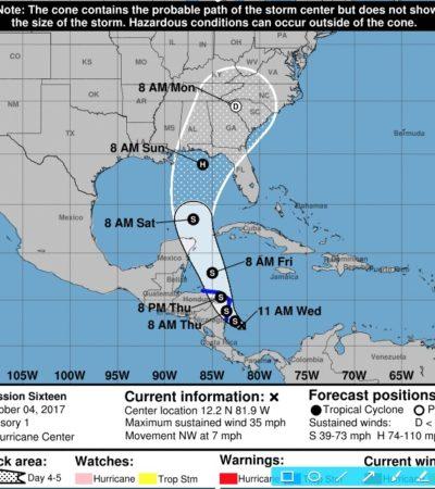 EMITEN ALERTA AZUL POR DEPRESIÓN TROPICAL: Península de Yucatán podría registrar afectaciones por acercamiento de fenómeno hidrometeorológico