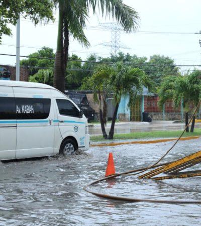 Continúan con trabajo preventivo en Solidaridad ante tormenta 'Nate'
