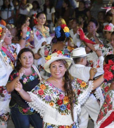 Inaugura Romi Dzul la Fiesta Tradicional Maya en Tulum