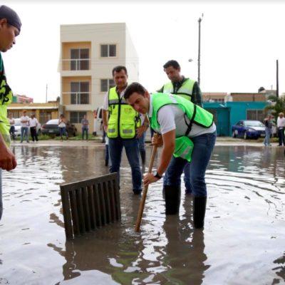 Recorre Alcalde obras en proceso y supervisa jornada de limpieza en calles y avenidas