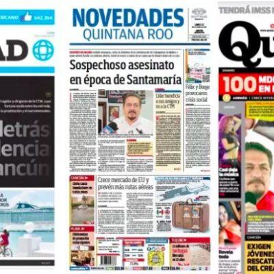 Emprenden periódicos campaña mediática contra Isidro Santamaría