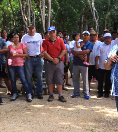 Refrenda Cristina Torres compromiso con habitantes de Puerto Aventuras