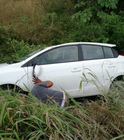 Aparatosa volcadura deja 5 heridos en Cancún