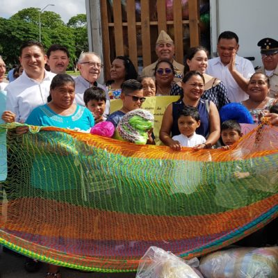 SOLIDARIDAD DE YUCATÁN CON OAXACA: Envían cargamento de hamacas como parte de paquete de 450 toneladas de ayuda humanitaria para damnificados por sismos