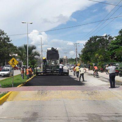 Inicia repavimentación de la Avenida Constituyentes en Playa del Carmen