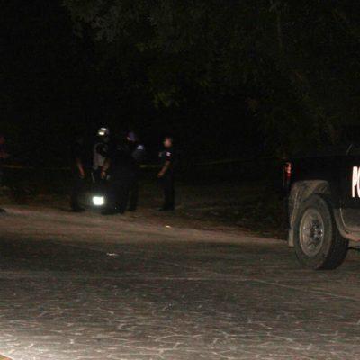 HALLAN A EJECUTADO EN CAMINO A XCARET: Con el tiro de gracia, matan a un hombre durante la madrugada; es el tercer crimen similar durante el 2017 en la misma zona
