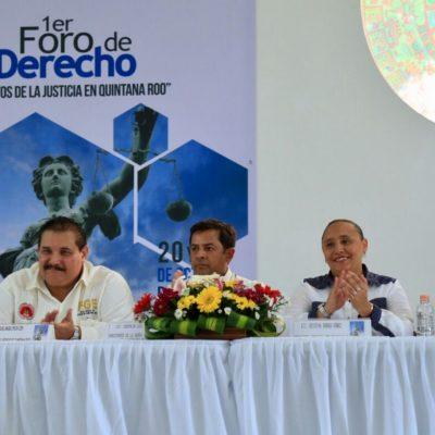 FORO SOBRE LOS RETOS DE LA JUSTICIA EN QR: Destaca Cristina Torres importancia de ciudadanizar procesos legales