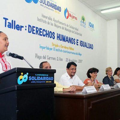Con taller para burócratas, busca Alcaldesa institucionalizar la igualdad y equidad de género en Solidaridad
