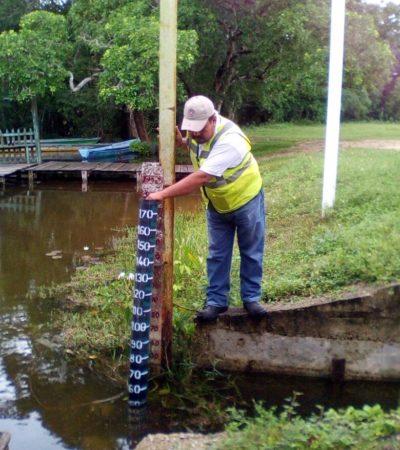 Aumenta 2.75 metros en 3 días el nivel del nivel del Río Hondo, pero aún no representa riesgo para la comunidad de La Unión