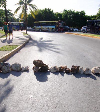 Protestan ciudadanos contra obra de Fonatur en el Kilómetro Cero de la Zona Hotelera de Cancún