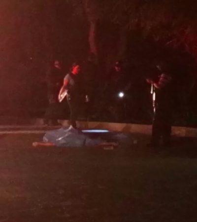 BALACERA EN LA COBÁ DE CANCÚN: Asesinan a dos personas frente a militares por la glorieta de la Avenida Náder