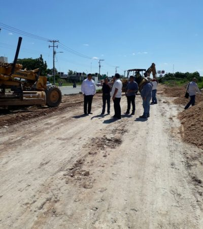 Supervisa Alcalde pavimentación de calles en colonias de OPB