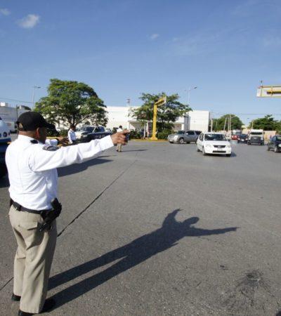 Mantienen cierre de calles y operativo de vialidad en el centro de Cancún por plantón de clientes afectados de First National Security