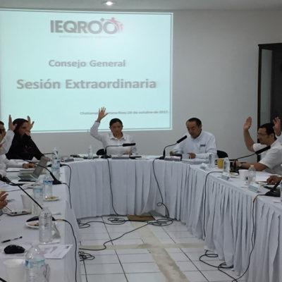 Aprueba Ieqroo calendario electoral con miras a las elecciones concurrentes del próximo año