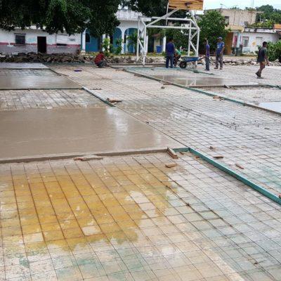 Rehabilitan cancha de usos múltiples en Manuel Antonio Ay y dará Romi equipamiento