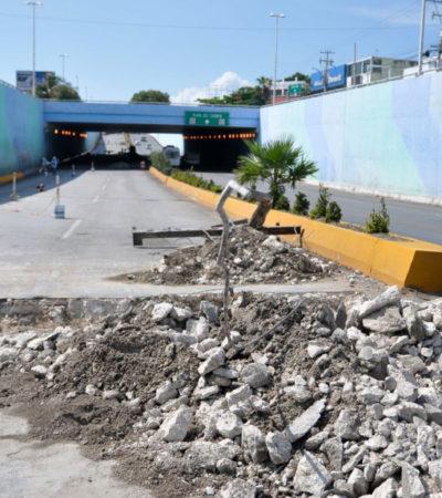 RECIBE SECRETARIO INSULTOS POR REPARACIONES: Piden paciencia por obras en el paso a desnivel de Bonfil