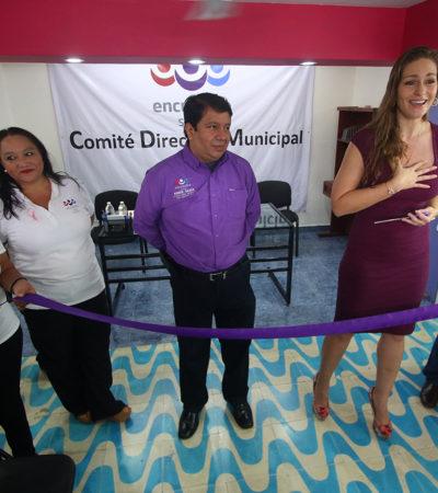 Inaugura Niurka Sáliva oficina del PES en Cozumel