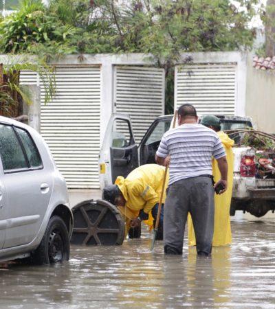 Realiza ayuntamiento limpieza de pozos de absorción en Tulum