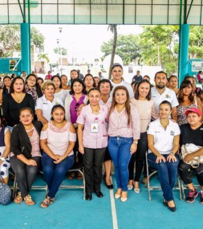 Realizan Feria de la Salud para la prevención de cáncer de la mujer en Tulum