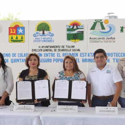 Firma el ayuntamiento para que la más gente de Tulum obtenga su Seguro Popular
