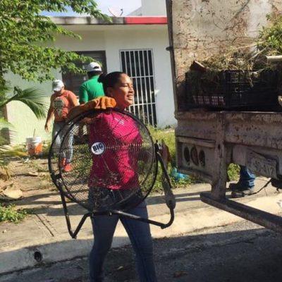 Continúan jornadas de descacharrizaciín en Puerto Morelos para combatir enfermedades transmitidas por vector