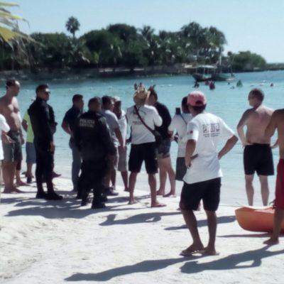 Detienen a turista tras agredir a un vigilante de la Conanp en la bahía de Akumal
