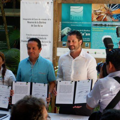 Inaugura Carlos Joaquín Centro de Visitantes de Sian Ka'an