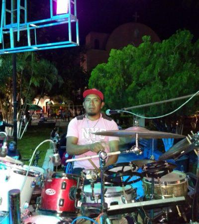Músicos de la zona maya dan concierto en honor a Santa Cecilia