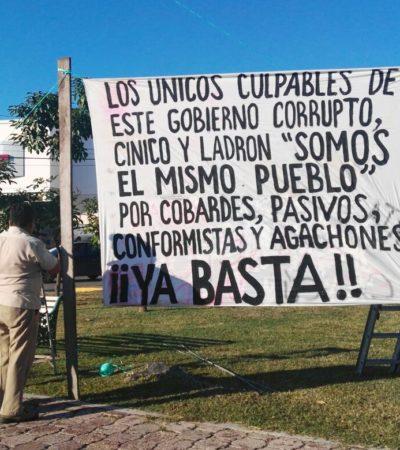 Marcan aniversario de la Revolución con protesta en 'El Ceviche' de Cancún