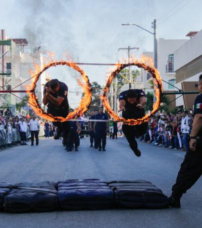 Participan cerca de 4 mil personas en desfile del 20 de noviembre en Solidaridad