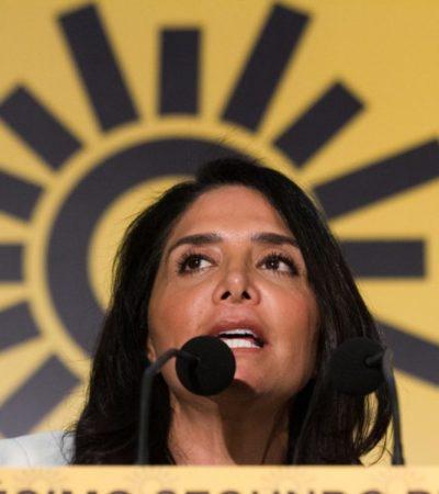 Ordena TEPJF a Alejandra Barrales dejar la dirigencia del PRD por violar estatutos al asumir curul en el Senado