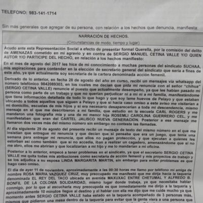 ¿SE METE EL NARCO EN LA ELECCIÓN DE TAXISTAS EN CHETUMAL?: Aspirante a Suchaa denuncia amenazas de Cetina Valle y el CJNG