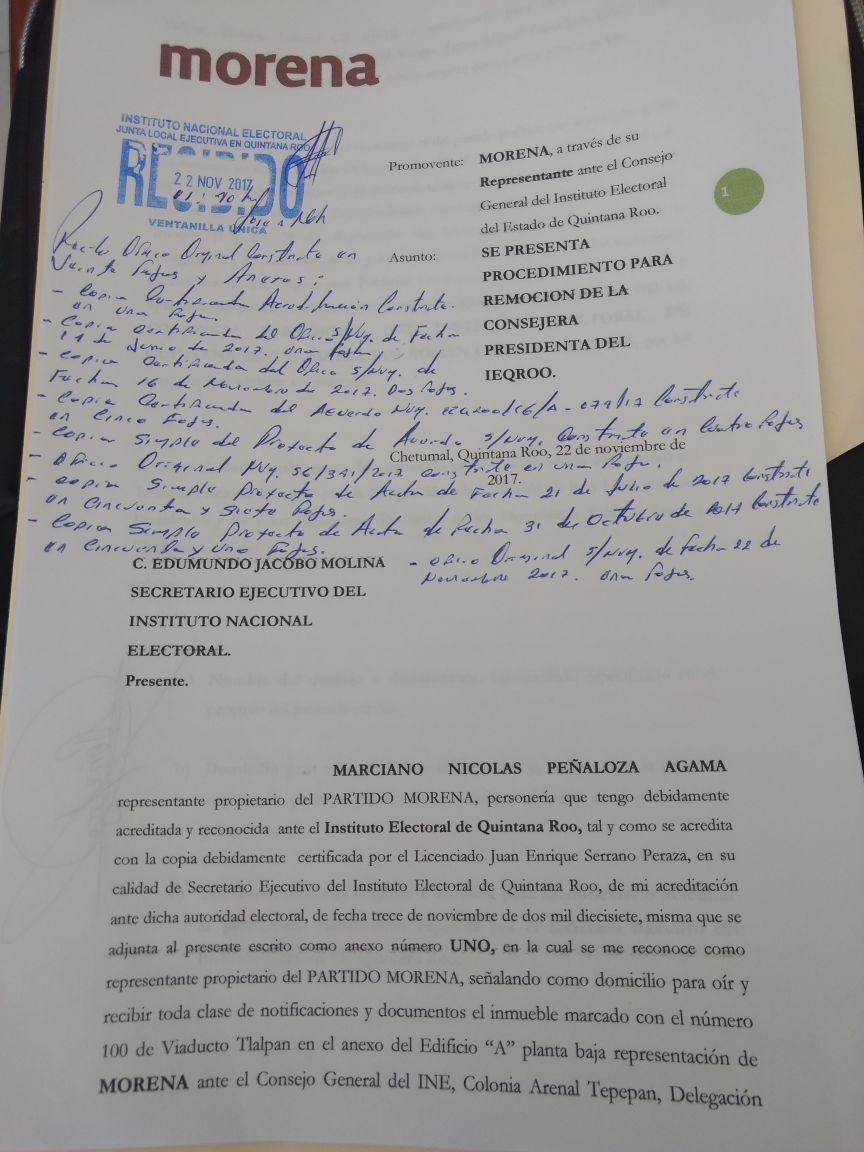 NO QUIERAN A LA PRESIDENTA DEL IEQEOO: Pide Morena destitución de Mayra San Román