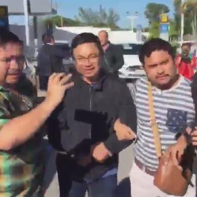 """""""CLARO QUE SOY INOCENTE"""": Llega a Chetumal Erce Barrón, el borgista detenido en Baja California el fin de semana; se buscará prisión preventiva, dice el Fiscal"""