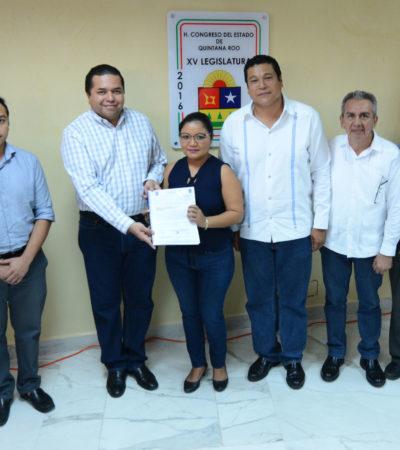 Recibe Congreso iniciativas de ley de ingresos de Tulum, Bacalar y Felipe Carrillo Puerto.