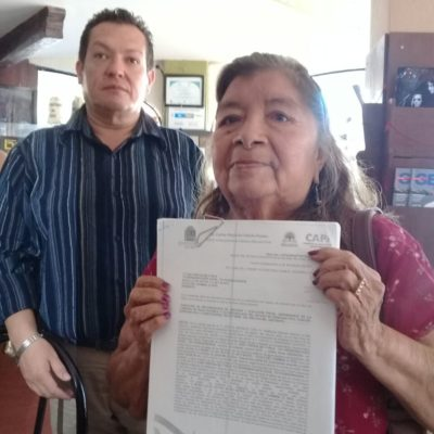 Acusan a CAPA de dejar sin fuente de ingresos a septuagenaria en Playa del Carmen