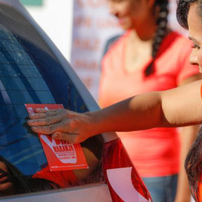 JORNADA NARANJA EN PUERTO MORELOS: Conmemoran el Día Internacional de la Eliminación de la Violencia contra la Mujer