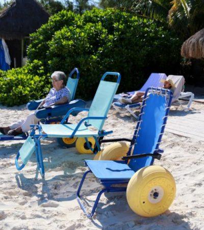 Cuenta Cancún con su primera playa incluyente