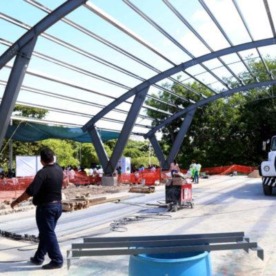 Reporta Alcalde avances en la construcción de 11 domos en Cancún