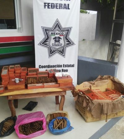 Incautan puros 'cubanos' procedentes de Veracruz