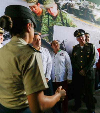 Inauguran en Solidaridad exposición 'Fuerzas Armadas… Pasión por México'