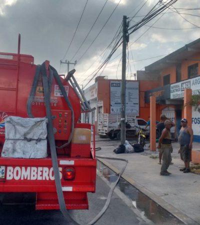 Se incendia comercio en la Región 100