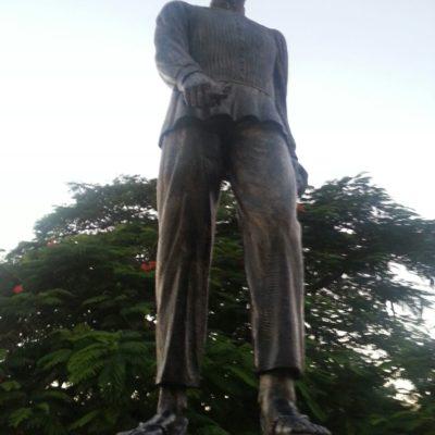 DELINCUENCIA NO RESPETA NI A CAUDILLO MAYA: Roban el machete de la estatua de Jacinto Pat en Carrillo Puerto