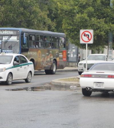 MUCHOS SE AJUSTAN Y A OTROS LES VALE: Resistencia de conductores para respetar la nueva circulación en la Avenida Kabah