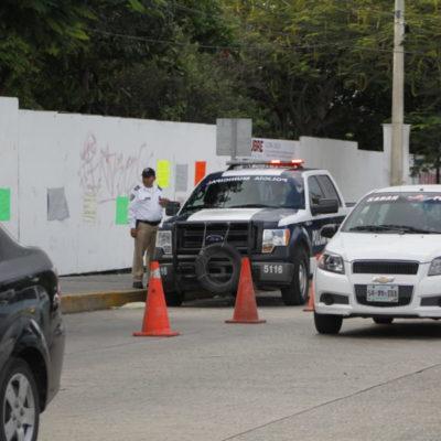 MANTIENEN CUELLO DE BOTELLA POR CAJAS DE SEGURIDAD: Vigilancia especial para clientes del FNS sigue provocando problemas viales en la Avenida Cobá de Cancún | VIDEO