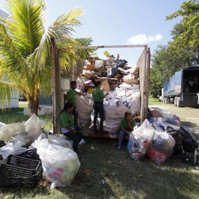 RECICLATÓN EN CANCÚN: En lo que va del año, se ha evitado que cerca de 300 mil toneladas de residuos lleguen al relleno sanitario con la separación de desechos