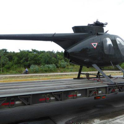 Arriban vehículos militares para exhibición en Playa del Carmen