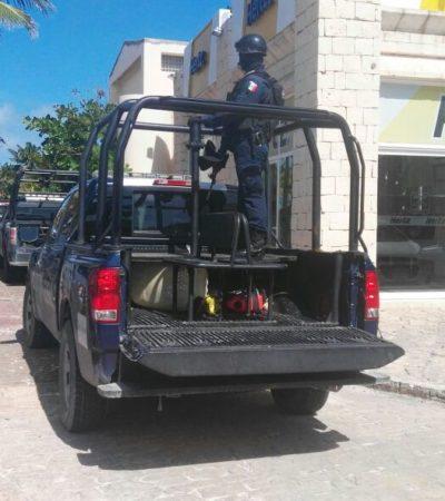 Detienen a cuatro presuntos narcomenudistas en la Zona Hotelera por fumar marihuana en plaza comercial