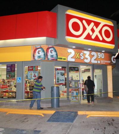 Cuantioso robo a Oxxo en Felipe Carrillo Puerto